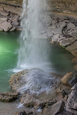 Pool In Cave Photograph - Hamilton Pool Waterfall by Teresa Wilson