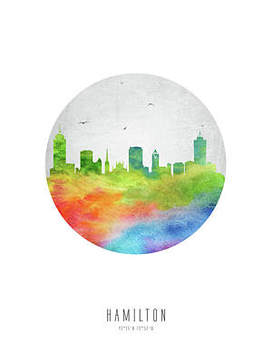 Ontario Digital Art - Hamilton Skyline Caonha20 by Aged Pixel