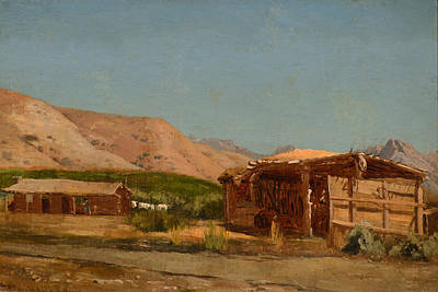 Mcentee Painting - Hamilton's Ranch Nevada  by Celestial Images