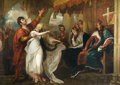 Painting - Hamlet- Act Iv, Scene V  by Benjamin West
