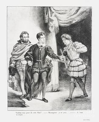 Hamlet Et Guildenstern Art Print by MotionAge Designs