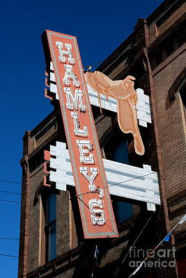 Photograph - Hamley's Western Wear Sign by Carol Groenen