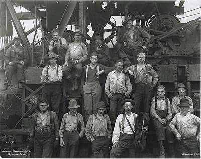 Photograph - Hamma Hamma Logging Company Workers by Timber Views Company