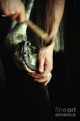 Photograph - Hammering The Horseshoe by Dimitar Hristov