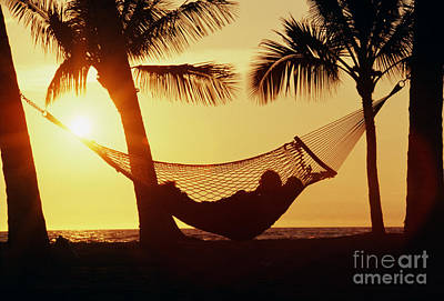 Laid -back Art Photograph - Hammock At Sunset by Bob Abraham - Printscapes