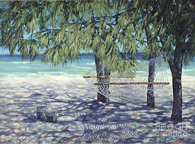 Hammock For Two Art Print by Danielle  Perry