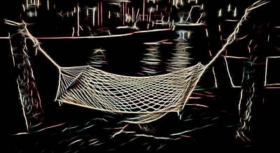 Mixed Media - Hammock For Two by Pamela Walton