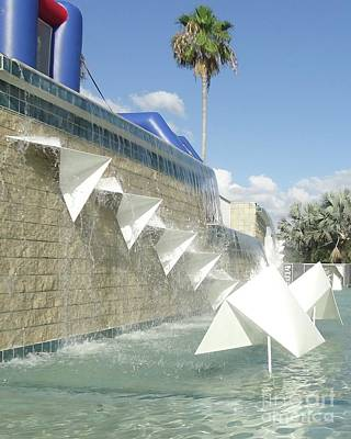 Photograph - Hammond Stadium Fountain by Barbie Corbett-Newmin