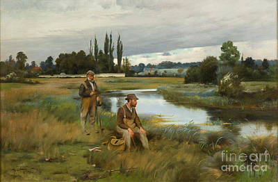 Percy Painting - Hammond Trout Fishing by MotionAge Designs