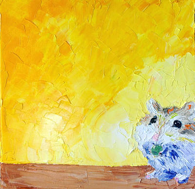 Painting - Hammy by Carrie Jacobson