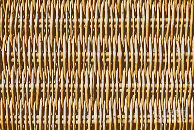 Hamper Texture Close Up Details Art Print