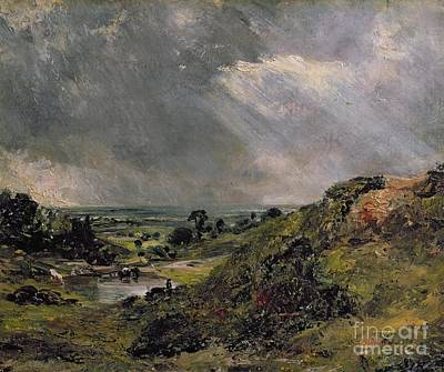 Stormy Painting - Hampstead Heath by John Constable