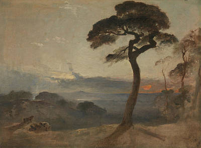 Hampstead Painting - Hampstead Heath, Sunset by Francis Danby