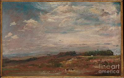 Hampstead Painting - Hampstead Heath With Bathers by Celestial Images