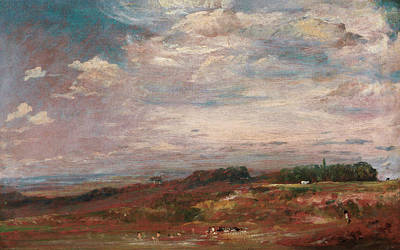 Bathing Painting - Hampstead Heath With Bathers by John Constable