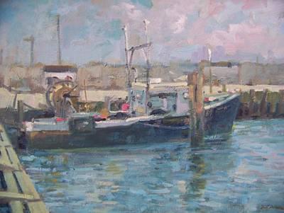 Hampton Bays Marina Art Print