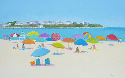 Hampton Beach And Boars Head Art Print by Jan Matson