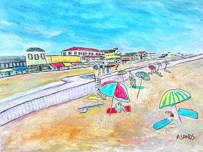 Painting - Hampton Beach Circa 1954 by Anne Sands