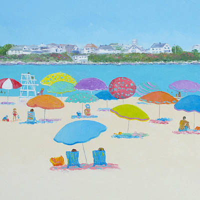 Hampton Beach Art Print by Jan Matson