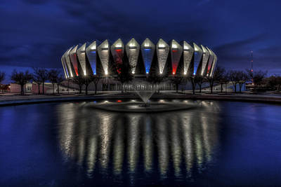 Photograph - Hampton Coliseum by Jerry Gammon