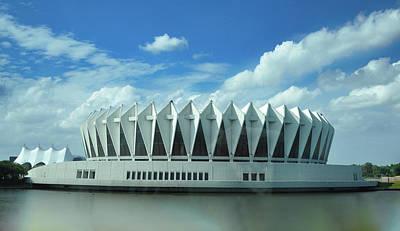 Hampton Coliseum - Virginia Print by Bill Cannon