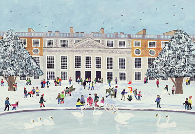 Hamptons Painting - Hampton Court Palace   Fountain Gardens by Judy Joel