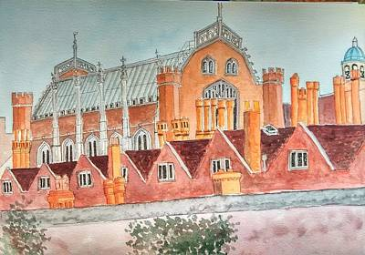 Hampton Court, Uk Art Print
