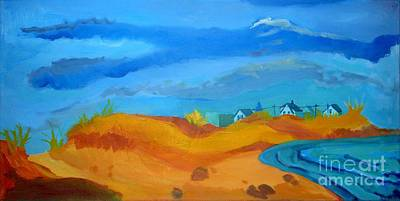 Summer Thunderstorm Painting - Hampton Dunes by Debra Bretton Robinson