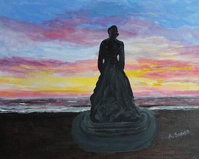Painting - Hampton Beach Marine Memorial by Anne Sands