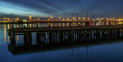 Photograph - Hampton Roads Bridge Tunnel by Jerry Gammon