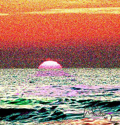 Hamriyah Sunset 2010 Art Print by Mike Shepley DA Edin
