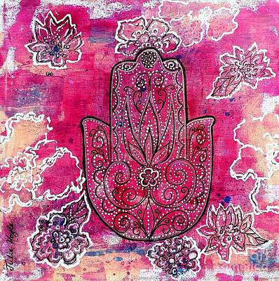 Mixed Media - Hamsa by Julie Hoyle