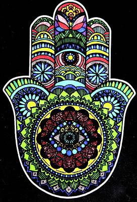 Mixed Media - Hamsa by Valerie Ornstein
