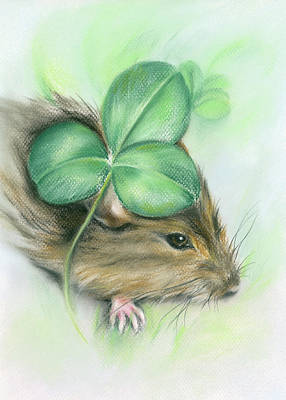 Pastel - Hamster In The Clover by MM Anderson