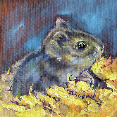 Gerbil Painting - Hamster Painting By Kim Guthrie by Kim Guthrie