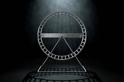 Hamster Wheel Empty Art Print