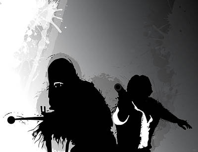 Han Digital Art - Han And Chewie by Nathan Shegrud