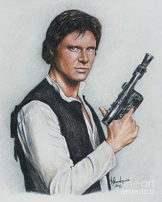 Drawing - Han Solo / Harrison Ford by Christine Jepsen