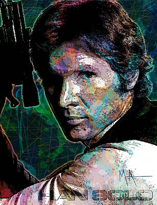 Digital Art - Han Solo by Maria Arango