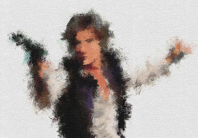 Character Portraits Digital Art - Han Solo by Miranda Sether