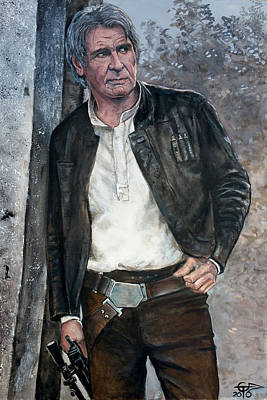 Painting - Han Solo by Tom Carlton