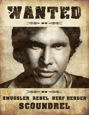 Lucille Ball Royalty Free Images - Han Solo Wanted Royalty-Free Image by Angela Boyko