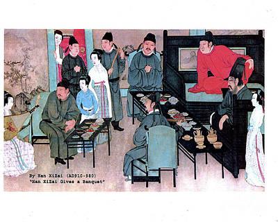 Photograph - Han Xizai Gives A Banquet  Ca. 910-980 by Merton Allen