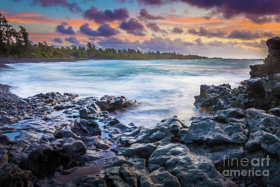 Photograph - Hana Bay Rocky Shore #1 by Inge Johnsson