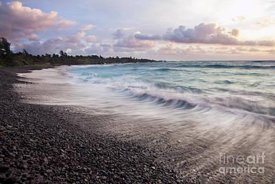 Hana Black Sand Beach Print by Jenna Szerlag