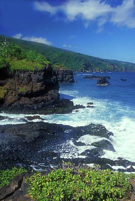 Celebrity Pop Art Potraits - Hana Coastline Maui by John Burk