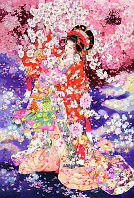 Painting - Hanafubuki by Haruyo Morita