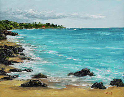 Painting - Hanakao'o Beach by Darice Machel McGuire