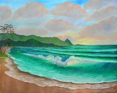 Pele Painting - Hanalei Bay And Bali Hai by William Williams