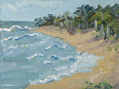 Painting - Hanalei Bay Kauai Hawaii by Zanobia Shalks